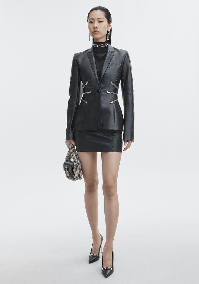ALEXANDER WANG LEATHER BLAZER JACKETS AND OUTERWEAR  Adult 12_n_f