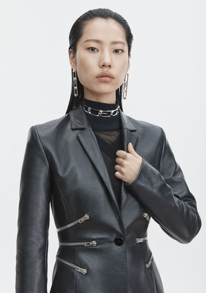 ALEXANDER WANG LEATHER BLAZER JACKETS AND OUTERWEAR  Adult 12_n_r