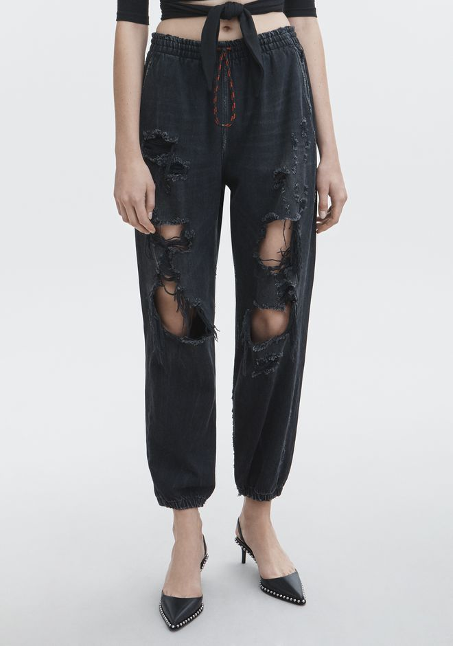 ALEXANDER WANG DRAWSTRING JOGGER DENIM Adult 12_n_a