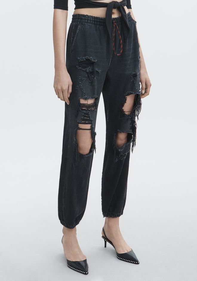 ALEXANDER WANG DRAWSTRING JOGGER DENIM Adult 12_n_e