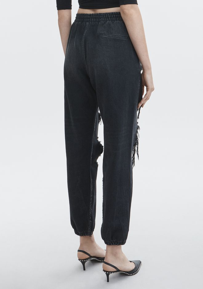 ALEXANDER WANG DRAWSTRING JOGGER DENIM Adult 12_n_r