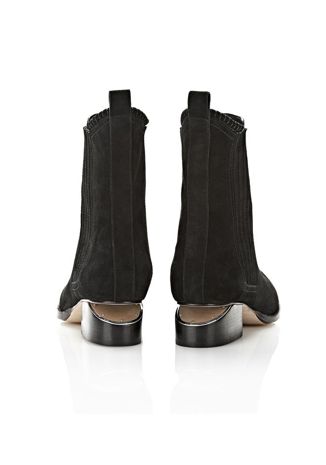 ALEXANDER WANG ANOUCK SUEDE BOOT WITH NICKEL  BOOTS Adult 12_n_e