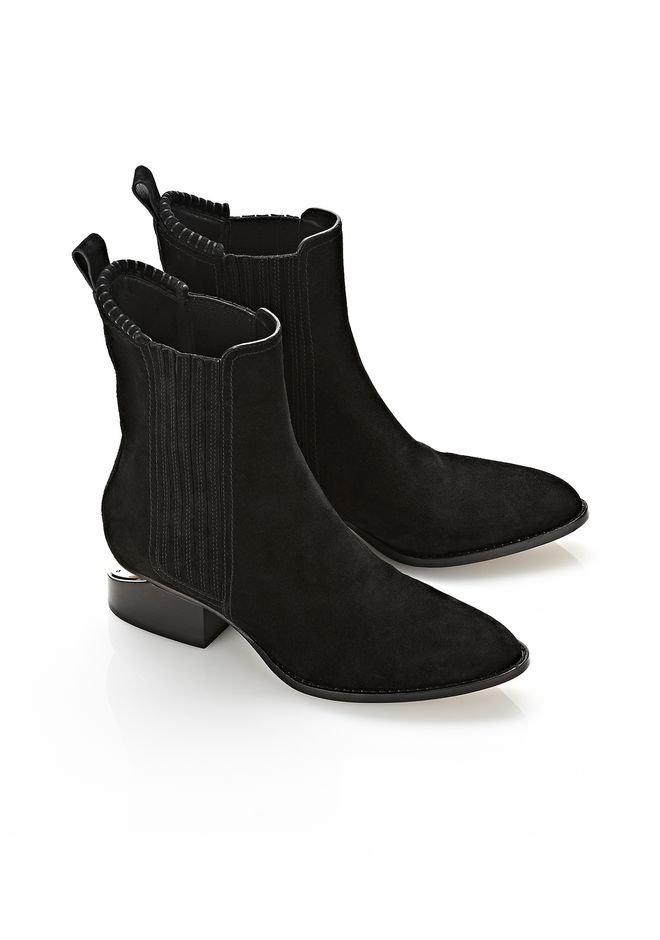 ALEXANDER WANG ANOUCK SUEDE BOOT WITH NICKEL  BOOTS Adult 12_n_r
