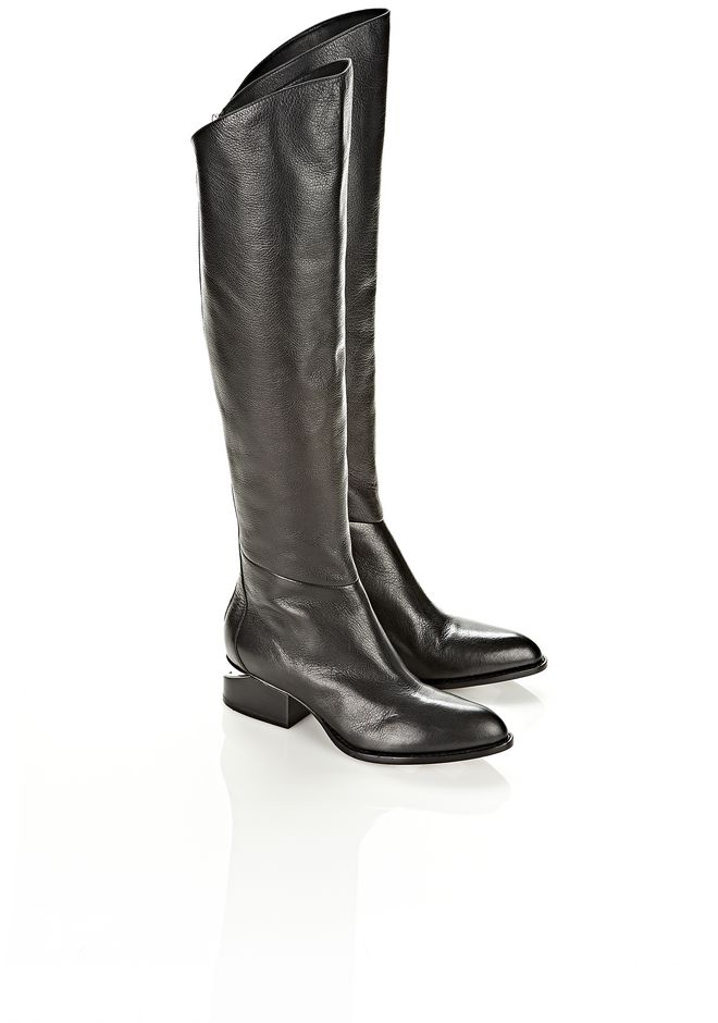 ALEXANDER WANG SIGRID BOOT WITH NICKEL BOOTS Adult 12_n_r