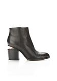 ALEXANDER WANG GABI BOOTIE WITH ROSE GOLD BOOTS Adult 8_n_f