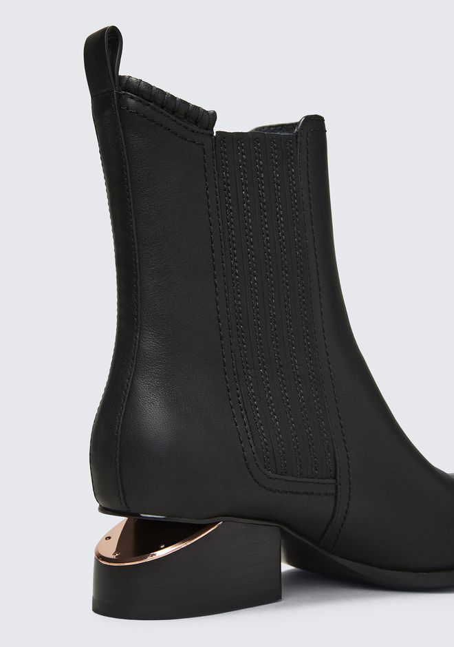ALEXANDER WANG ANOUCK BOOT WITH ROSE GOLD BOOTS Adult 12_n_a