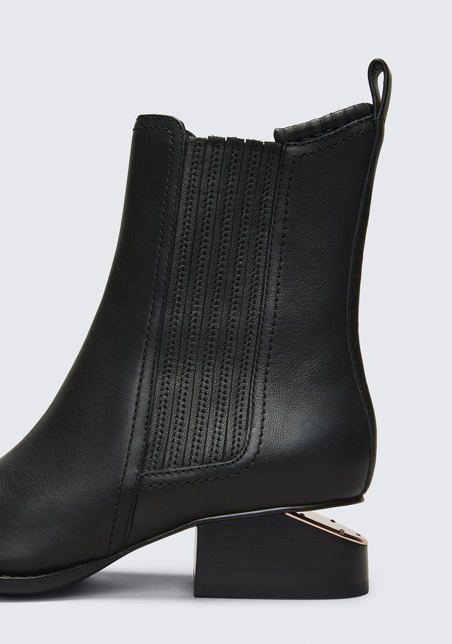 ALEXANDER WANG ANOUCK BOOT WITH ROSE GOLD BOOTS Adult 12_n_r