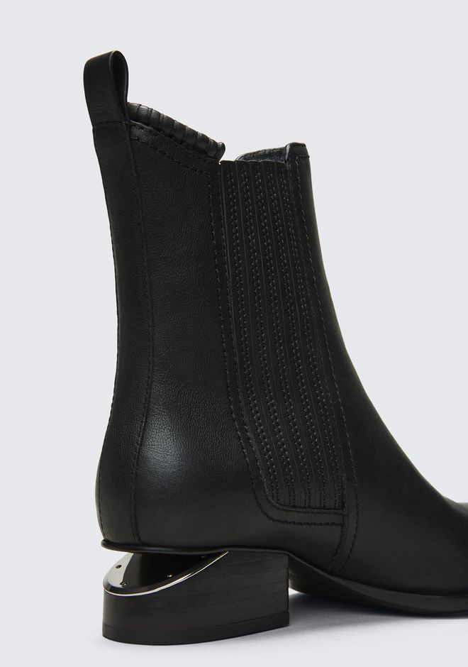 ALEXANDER WANG ANOUCK BOOT WITH RHODIUM BOOTS Adult 12_n_a