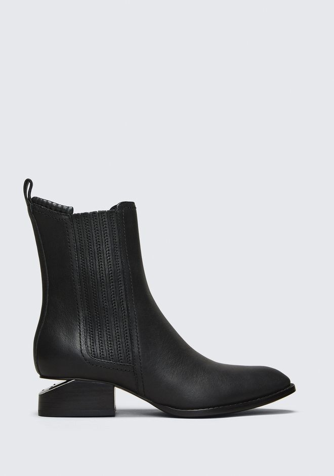 ALEXANDER WANG ANOUCK BOOT WITH RHODIUM BOOTS Adult 12_n_f
