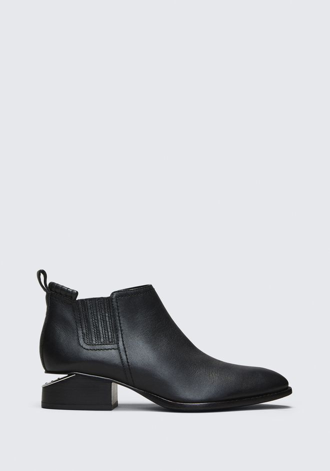 ALEXANDER WANG KORI OXFORD WITH RHODIUM STIEFEL Adult 12_n_f