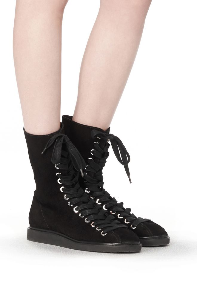 free shipping with credit card cheap sale extremely Alexander Wang Suede Lace-Up Ankle Boots free shipping looking for extremely cheap online DboGRhgQS