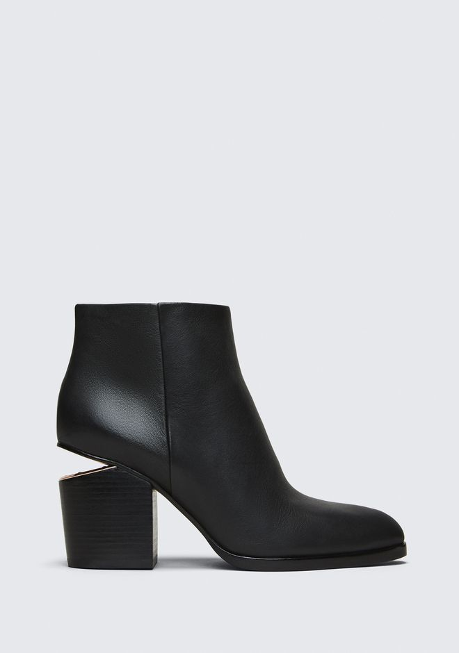 Alexander Wang Women's Gabi Leather Heeled Ankle Boots - /Rhodium - UK 7 9Pba93