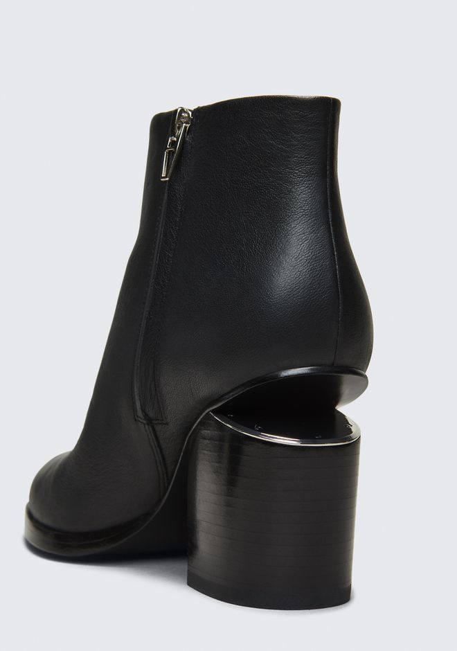 ALEXANDER WANG GABI BOOTIE WITH RHODIUM BOTTES Adult 12_n_a