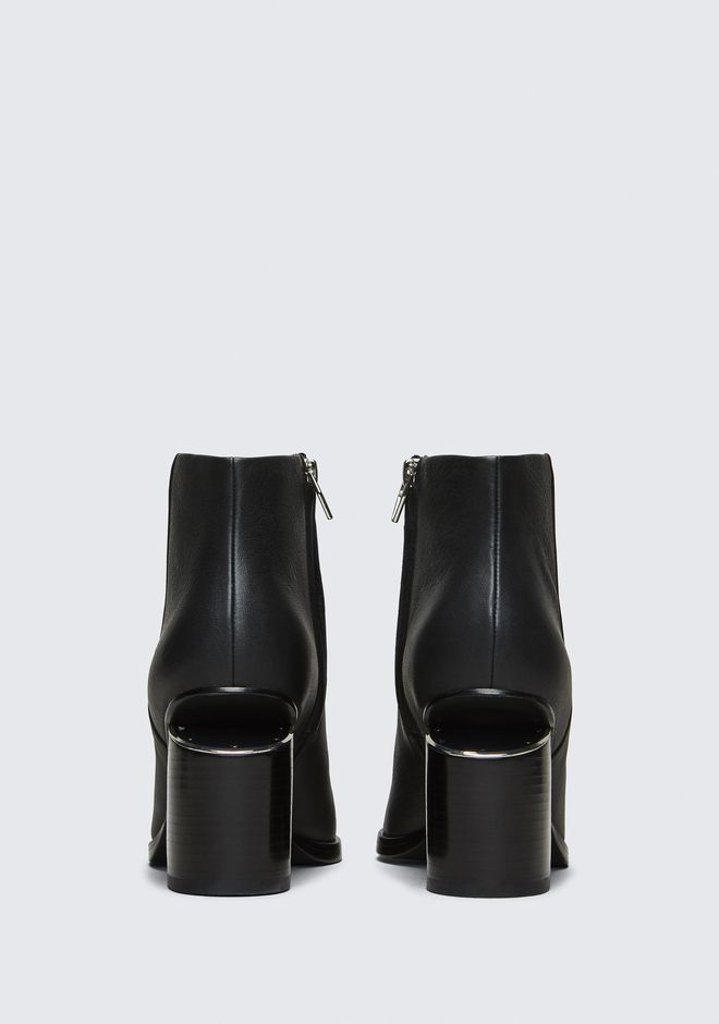 ALEXANDER WANG GABI BOOTIE WITH RHODIUM BOTTES Adult 12_n_d