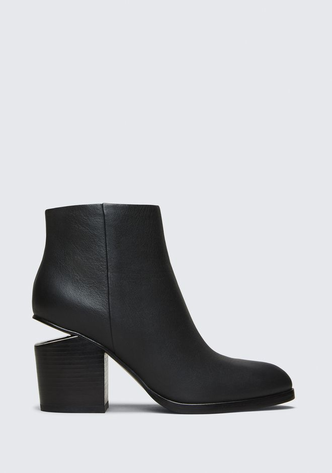 ALEXANDER WANG GABI BOOTIE WITH RHODIUM BOTTES Adult 12_n_f