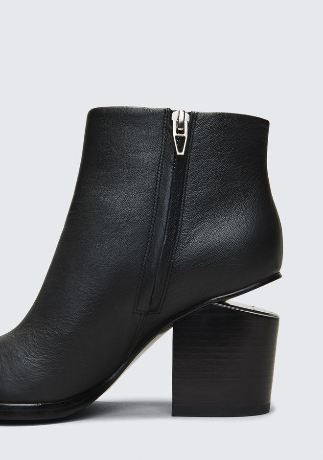 ALEXANDER WANG GABI BOOTIE WITH RHODIUM BOTTES Adult 12_n_r