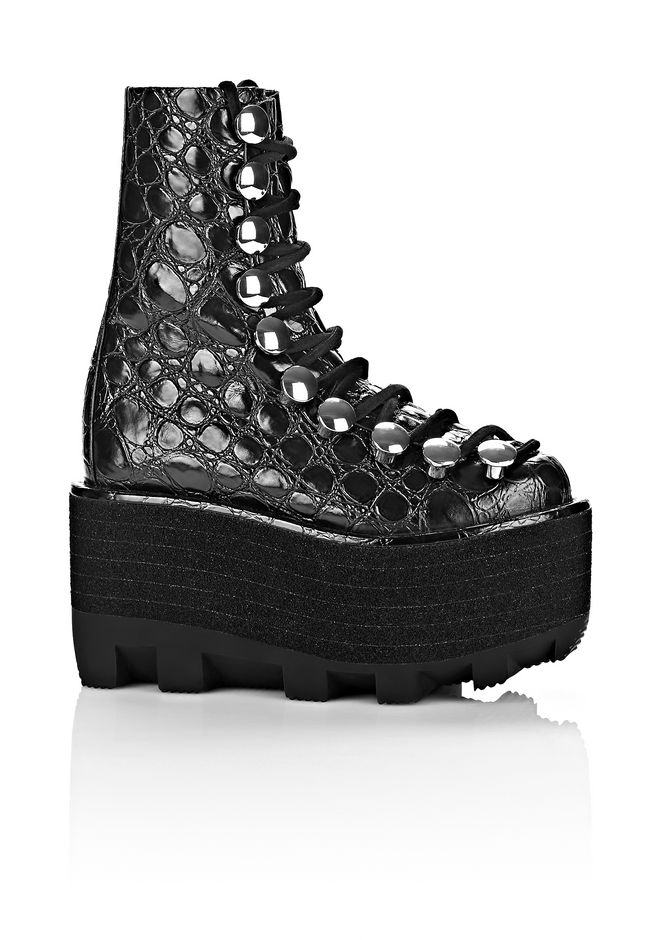 Alexander Wang Lace-Up Platform Booties online store best prices for sale PySBRg5z