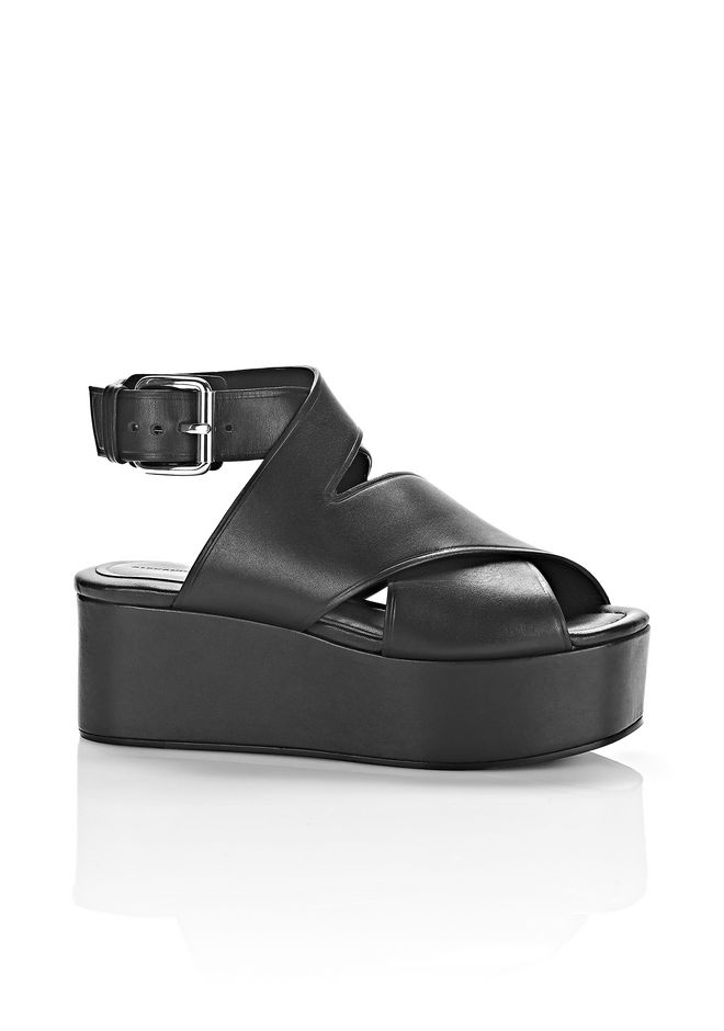 Alexander Wang Leather Platform Sandals low shipping outlet 100% guaranteed dR442D