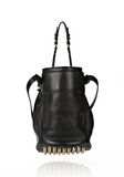 ALEXANDER WANG DIEGO IN BLACK SOFT PEBBLE LEATHER WITH PALE GOLD Shoulder bag Adult 8_n_d