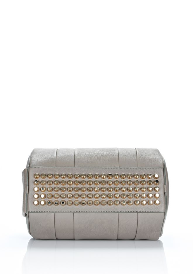 ALEXANDER WANG ROCCO IN OYSTER SOFT PEBBLE LAMB WITH PALE GOLD Shoulder bag Adult 12_n_e