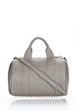 ALEXANDER WANG ROCCO IN OYSTER SOFT PEBBLE LAMB WITH PALE GOLD Shoulder bag Adult 8_n_f