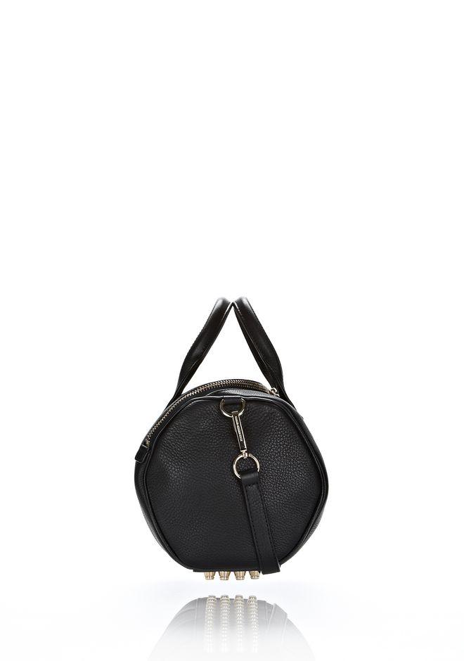 ALEXANDER WANG ROCKIE IN SOFT  BLACK WITH PALE GOLD Shoulder bag Adult 12_n_e