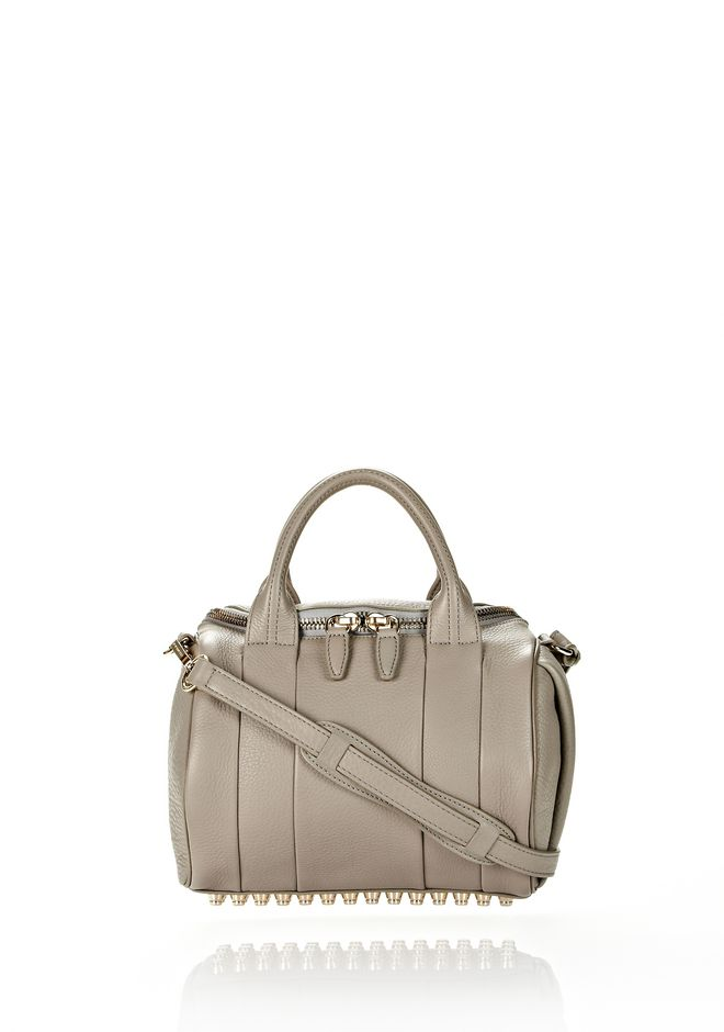 ALEXANDER WANG ROCKIE IN OYSTER SOFT PEBBLE LEATHER W/ PALE GOLD Shoulder bag Adult 12_n_f