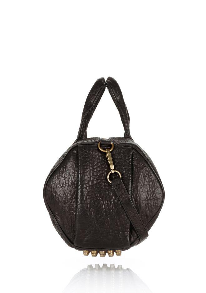 ALEXANDER WANG ROCCO IN BLACK PEBBLE WITH ANTIQUE BRASS Shoulder bag Adult 12_n_d