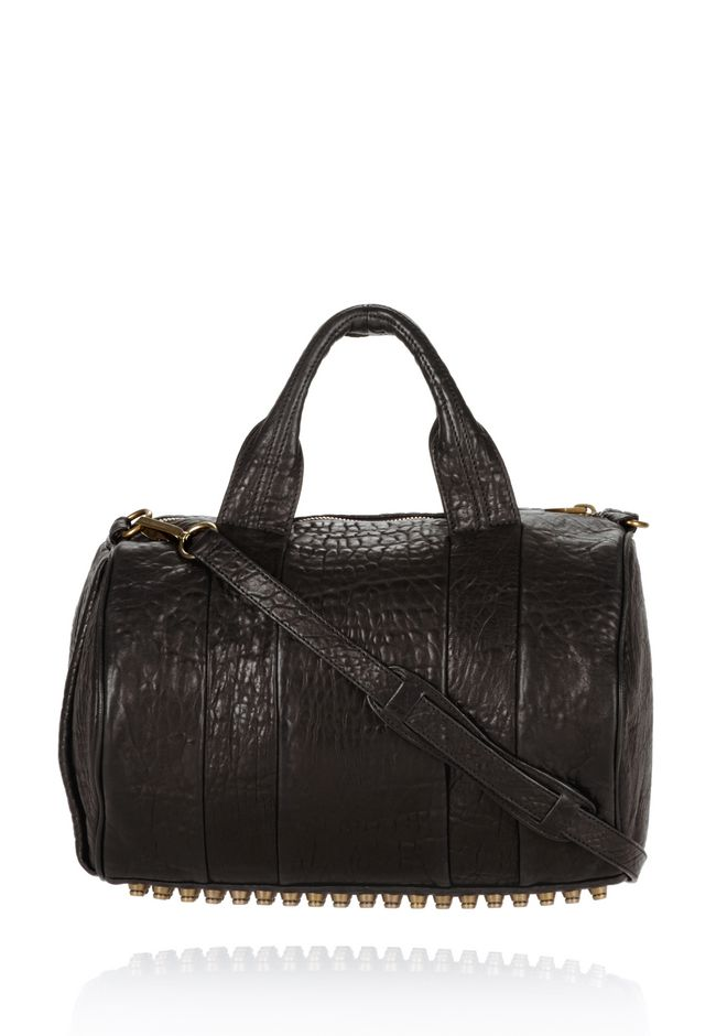 ALEXANDER WANG ROCCO IN BLACK PEBBLE WITH ANTIQUE BRASS Shoulder bag Adult 12_n_f