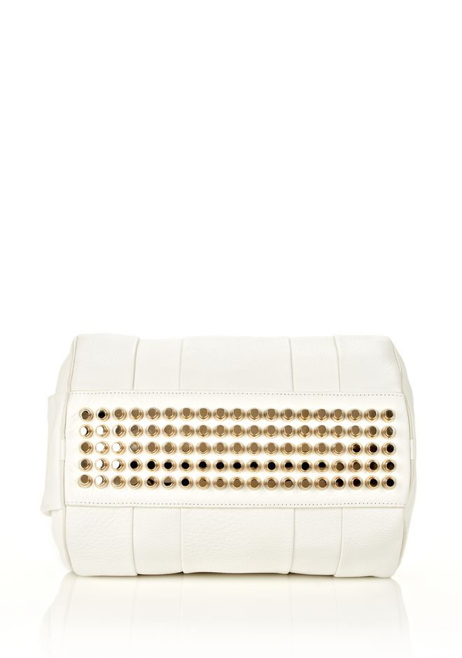 ALEXANDER WANG ROCCO IN SOFT PEROXIDE WITH PALE GOLD Shoulder bag Adult 12_n_e