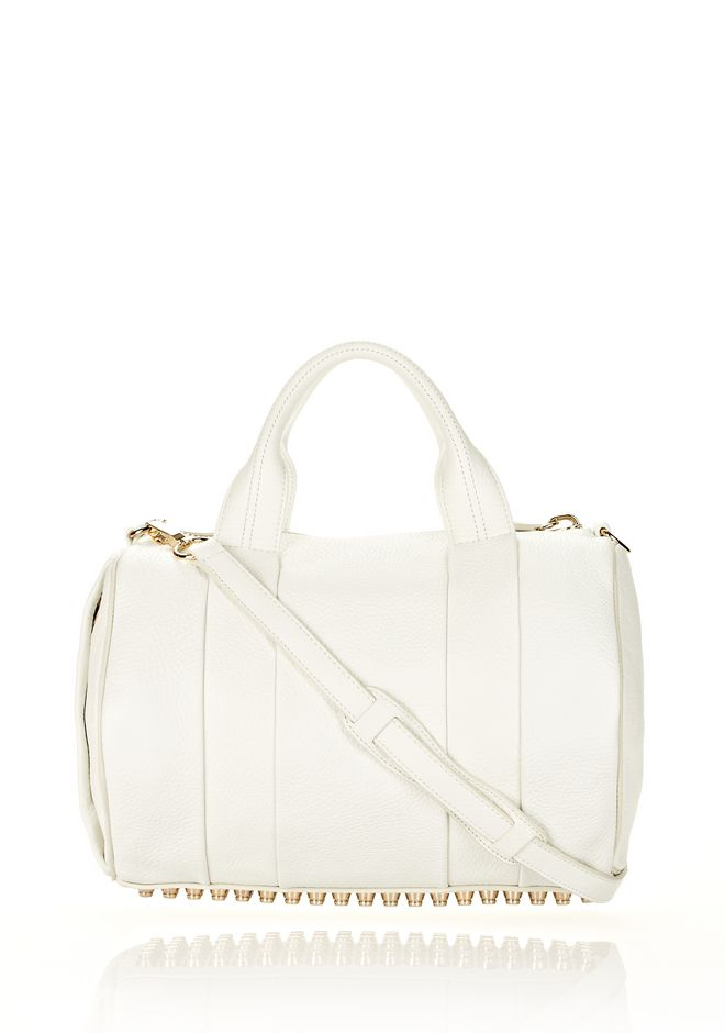 ALEXANDER WANG ROCCO IN SOFT PEROXIDE WITH PALE GOLD Shoulder bag Adult 12_n_f