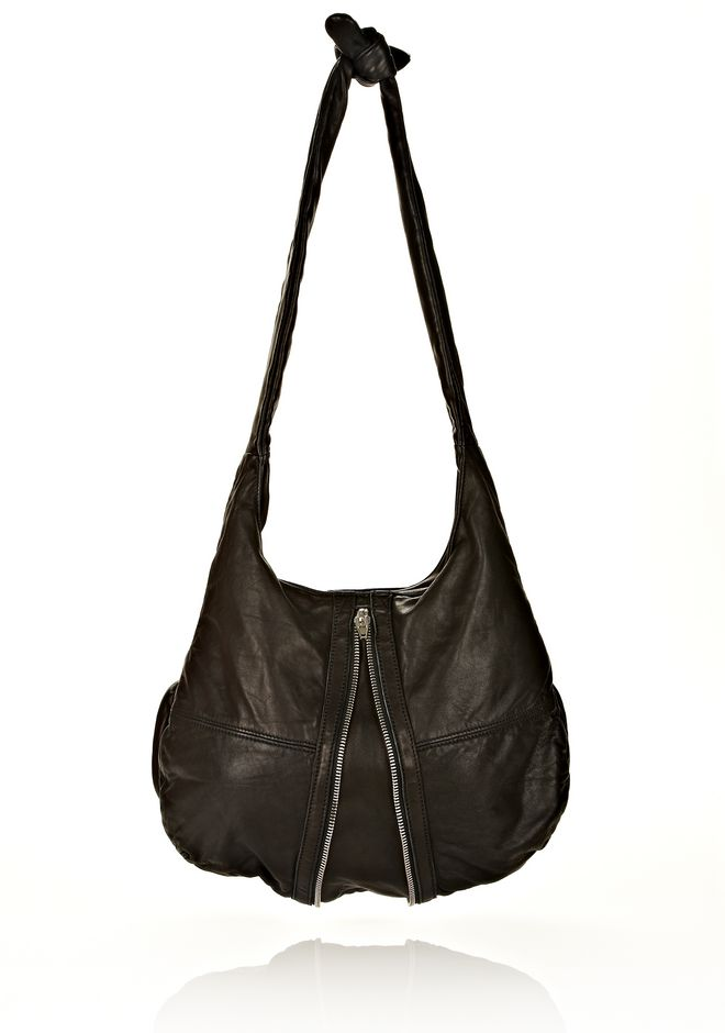 ALEXANDER WANG DONNA IN WASHED BLACK WITH RHODIUM  Shoulder bag Adult 12_n_d