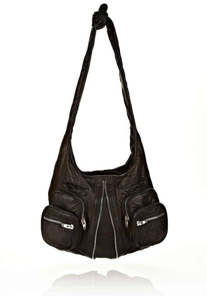 ALEXANDER WANG DONNA IN WASHED BLACK WITH RHODIUM  Shoulder bag Adult 12_n_f