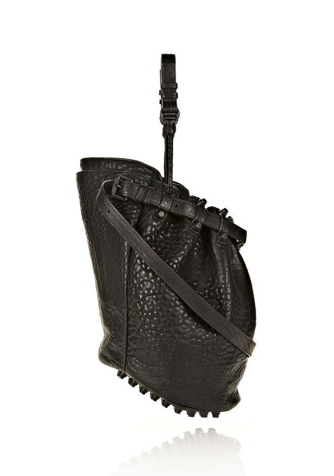 ALEXANDER WANG DIEGO IN BLACK PEBBLE LEATHER WITH MATTE BLACK Shoulder bag Adult 12_n_e