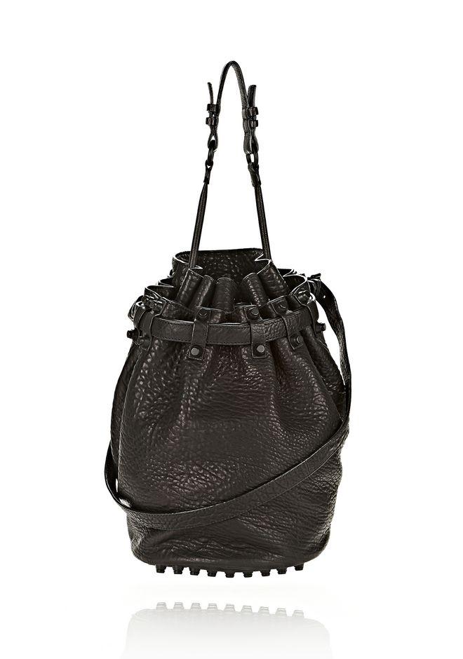 ALEXANDER WANG DIEGO IN BLACK PEBBLE LEATHER WITH MATTE BLACK Shoulder bag Adult 12_n_f