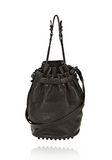 ALEXANDER WANG DIEGO IN BLACK PEBBLE LEATHER WITH MATTE BLACK Shoulder bag Adult 8_n_f