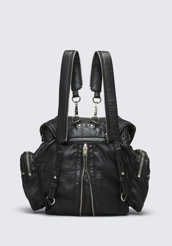 ALEXANDER WANG MARTI BACKPACK IN WASHED BLACK  WITH RHODIUM  背包 Adult 12_n_d