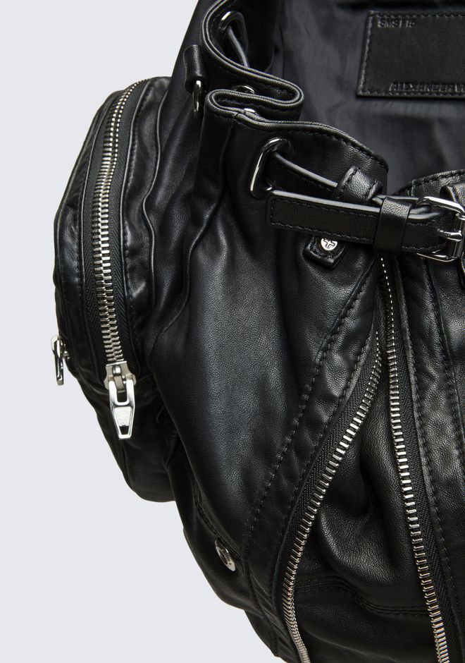 ALEXANDER WANG MARTI BACKPACK IN WASHED BLACK  WITH RHODIUM  背包 Adult 12_n_e