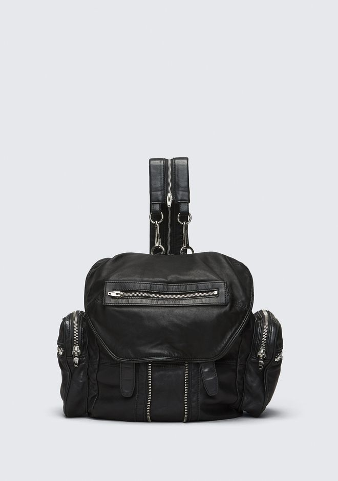 ALEXANDER WANG MARTI BACKPACK IN WASHED BLACK  WITH RHODIUM  ZAINO Adult 12_n_f