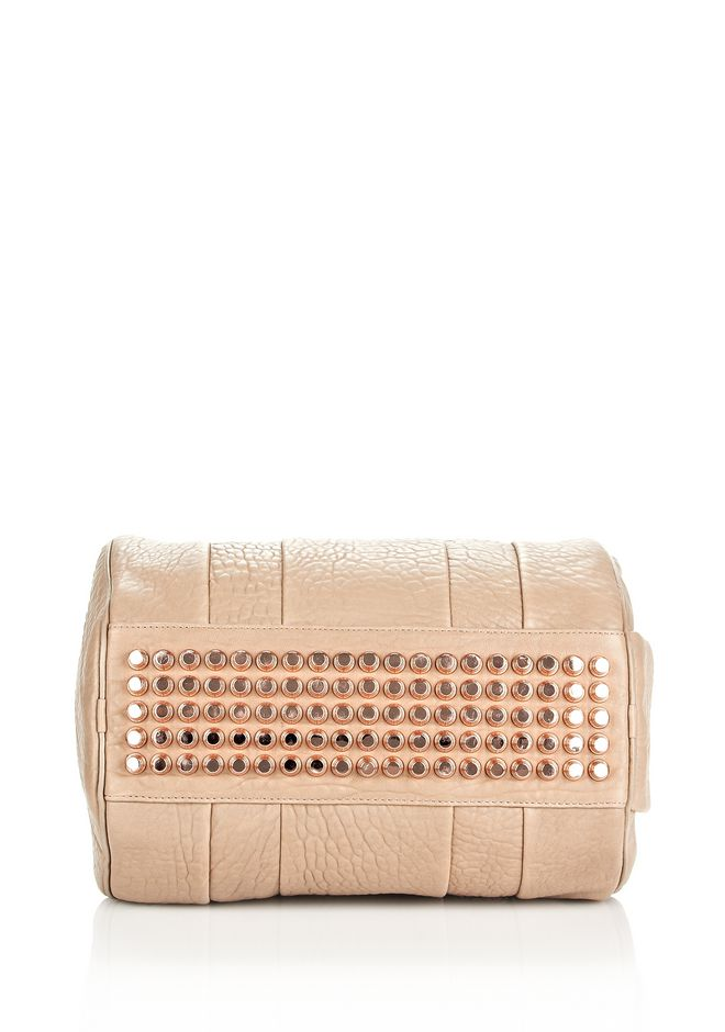 ALEXANDER WANG ROCCO IN LATTE PEBBLE WITH ROSE GOLD Shoulder bag Adult 12_n_e