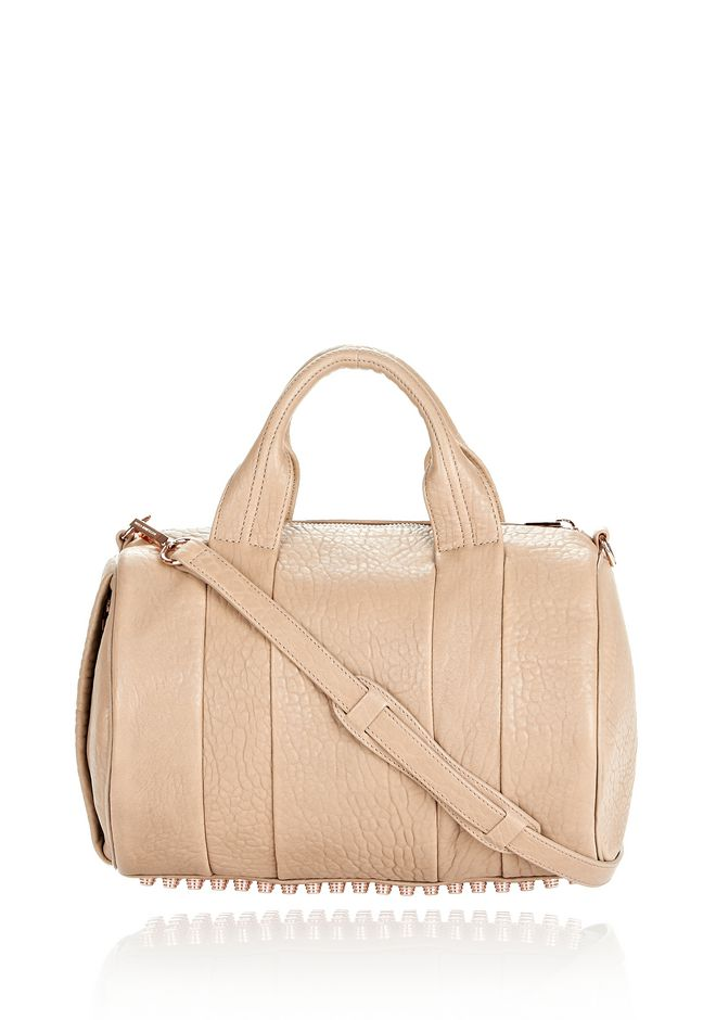 ALEXANDER WANG ROCCO IN LATTE PEBBLE WITH ROSE GOLD Shoulder bag Adult 12_n_f