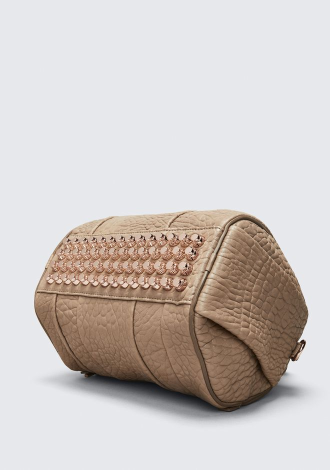 ALEXANDER WANG ROCKIE IN PEBBLED LATTE WITH ROSE GOLD Borse a spalla Adult 12_n_a