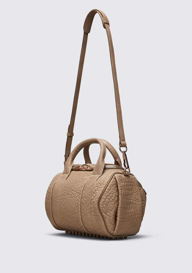 ALEXANDER WANG ROCKIE IN PEBBLED LATTE WITH ROSE GOLD Borse a spalla Adult 12_n_e