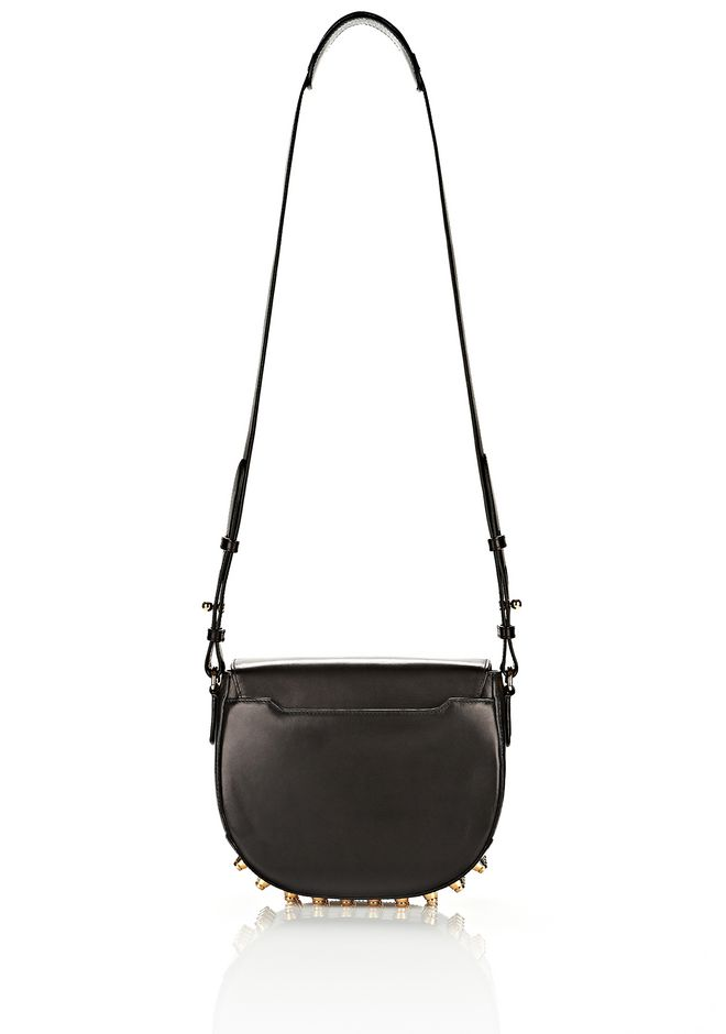 ALEXANDER WANG LIA IN BLACK WITH YELLOW GOLD Shoulder bag Adult 12_n_a