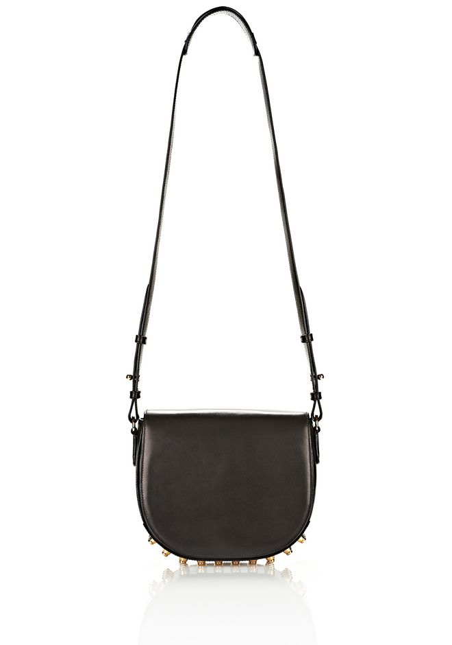 ALEXANDER WANG LIA IN BLACK WITH YELLOW GOLD Shoulder bag Adult 12_n_f
