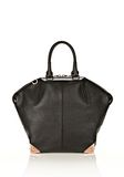 ALEXANDER WANG LARGE EMILE IN PEBBLED BLACK WITH ROSE GOLD  TOTE/DEL Adult 8_n_d