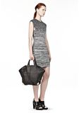 ALEXANDER WANG LARGE EMILE IN PEBBLED BLACK WITH ROSE GOLD  TOTE/DEL Adult 8_n_r
