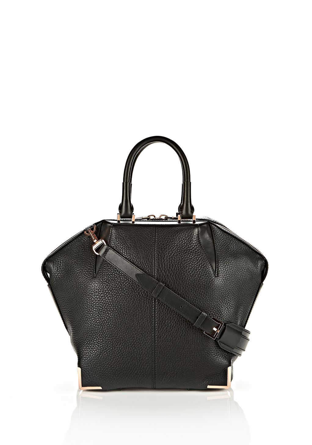Alexander Small Emile In Soft Black With Rose Gold Shoulder Bag Official Site