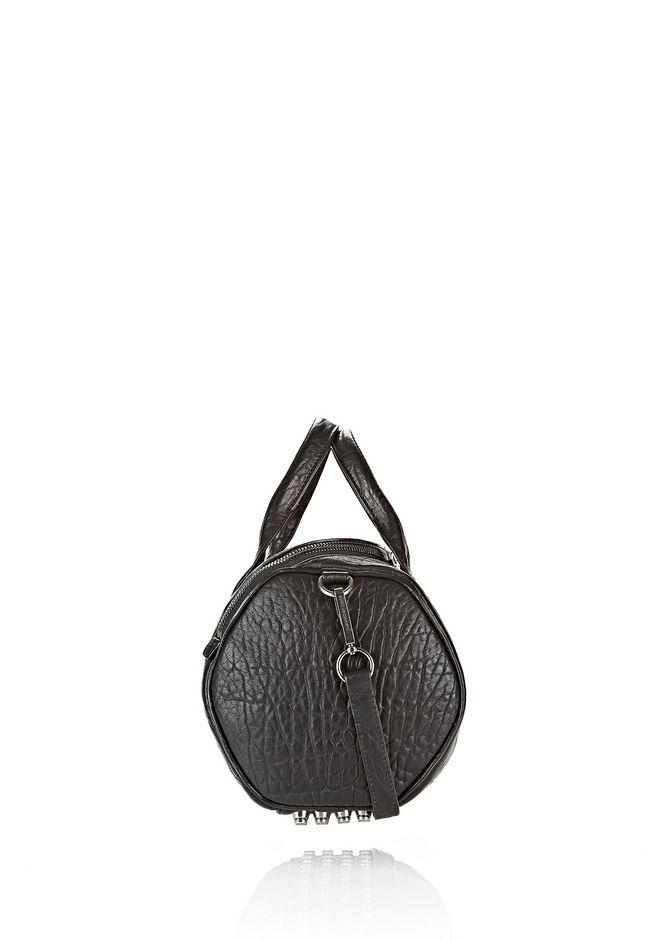 ALEXANDER WANG ROCKIE IN PEBBLED BLACK WITH BLACK NICKEL Sac porté épaule Adult 12_n_e