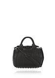 ALEXANDER WANG ROCKIE IN PEBBLED BLACK WITH MATTE BLACK Shoulder bag Adult 8_n_f